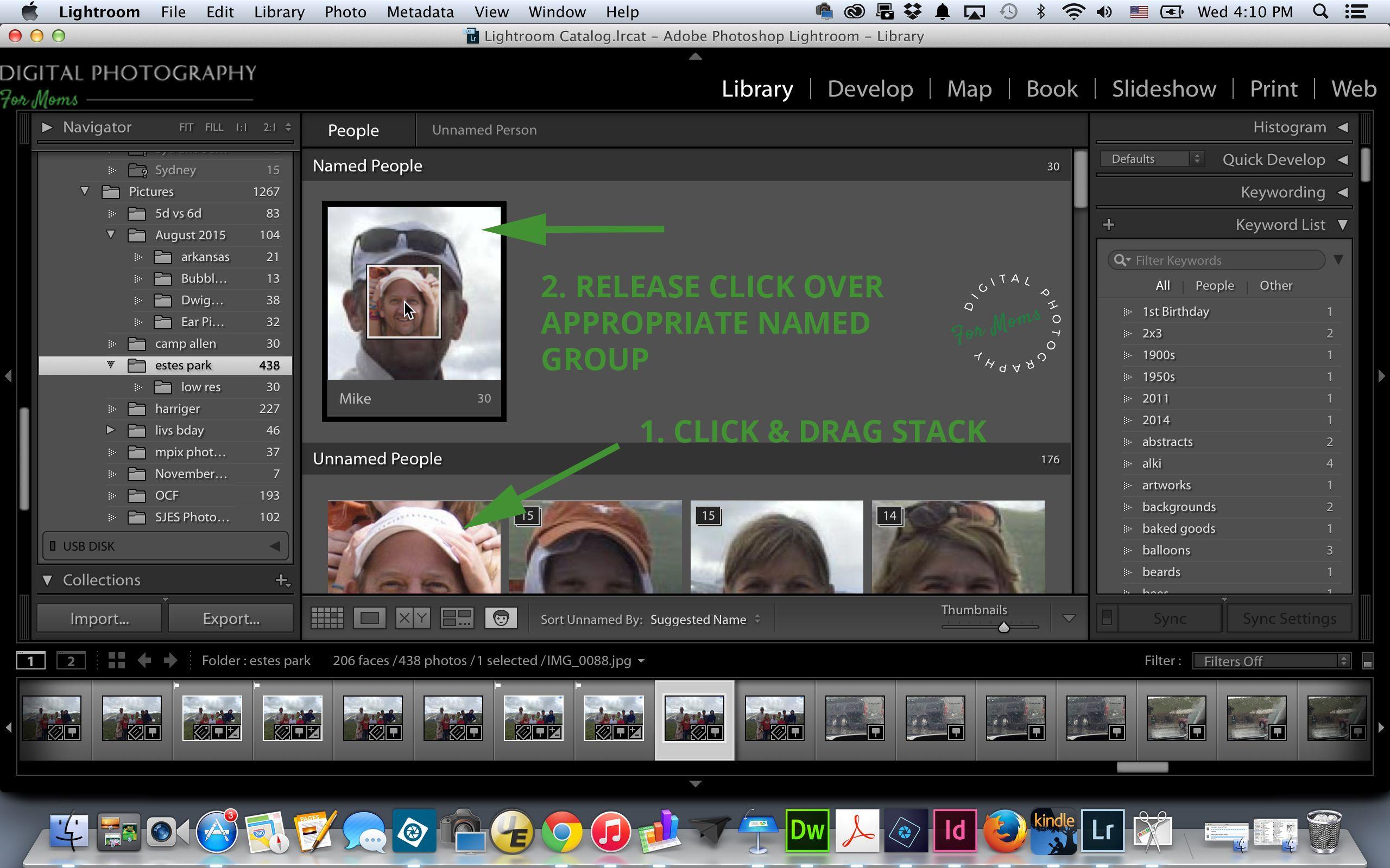 Lightroom Facial Recognition Video Tutorial via @Digital Photography for Moms