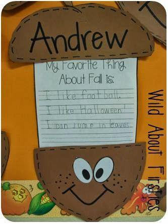 Wild About Firsties!: Free Acorn Craft Template perfect for fall ...