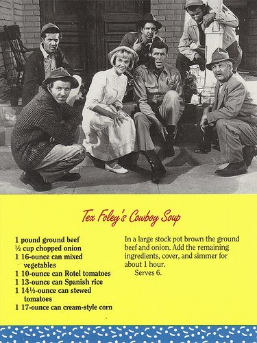 Mayberry Tex Foley's Cowboy Soup Recipe Postcard | Flickr - Photo Sharing!