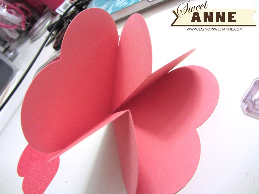 collapsing heart card free printable heart cards free printable