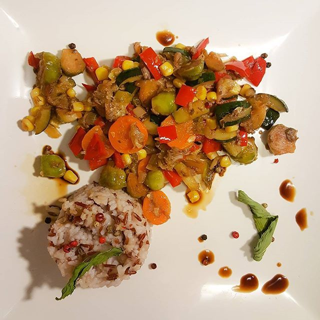 #purefood #mydish #late #night #cooking #vegetables #rice #tastyfood  Yummery - best recipes. Follow Us! #tastyfood