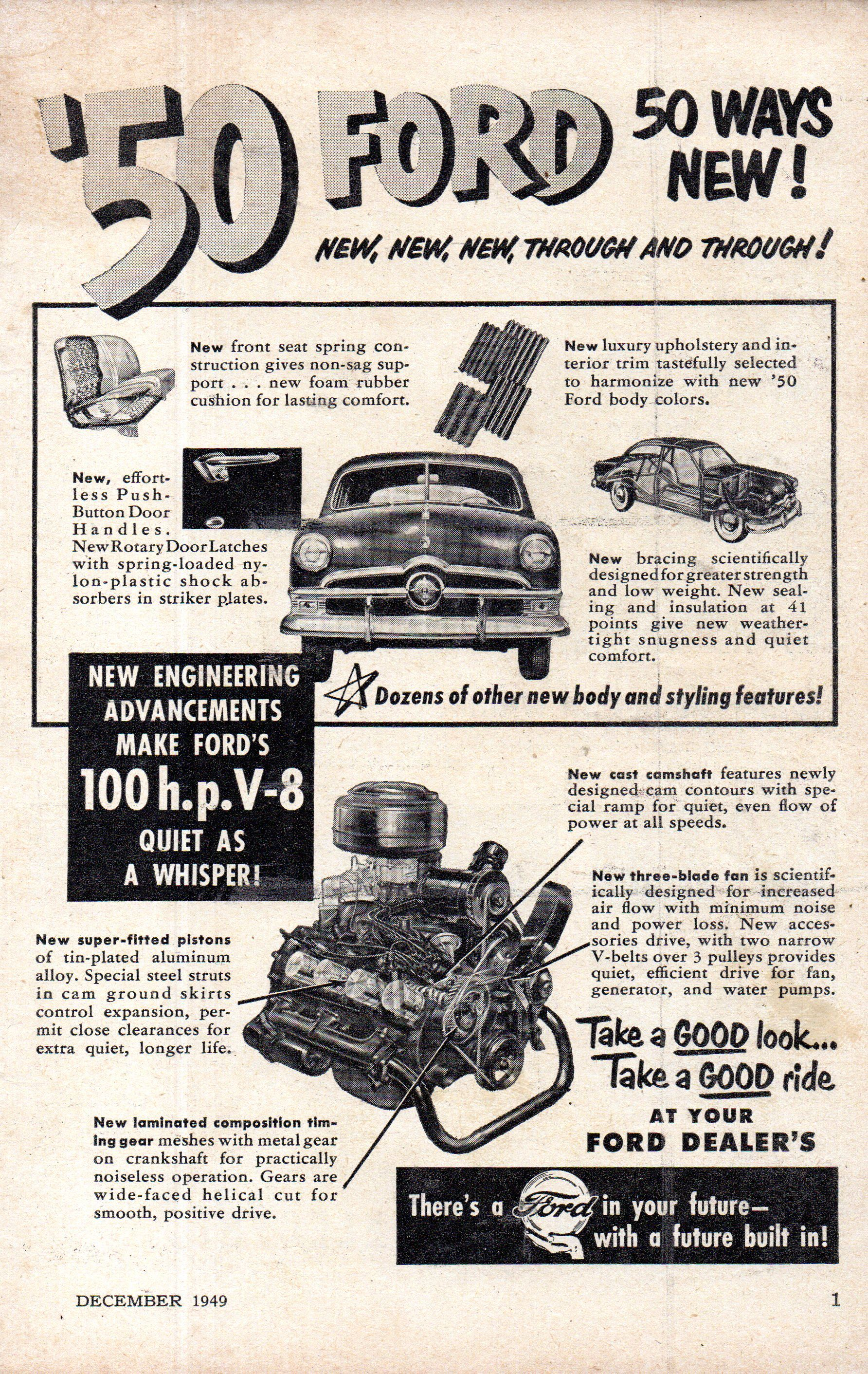 1950 Ford Single Spinner Usa Original Magazine Advertisement In 2020 Ford Ford News Advertising