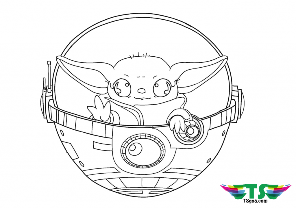 Baby Yoda coloring page Star Wars in 2020   Coloring pages ...