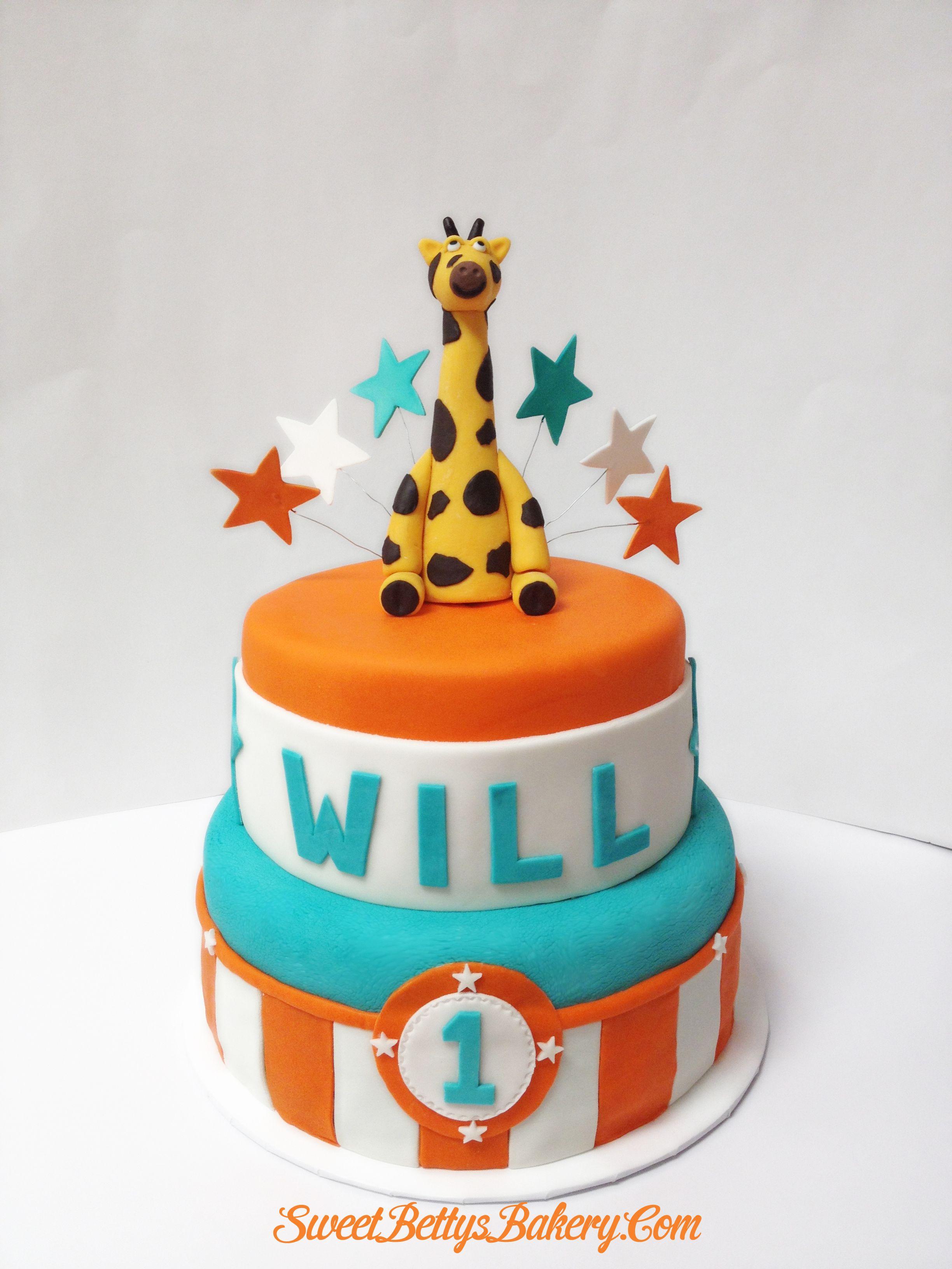 Giraffe 1st Birthday Cake Baked Goods Sweet Treats Pinterest