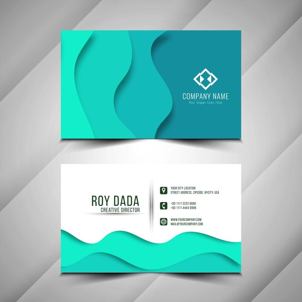 Abstract Modern Business Card Template