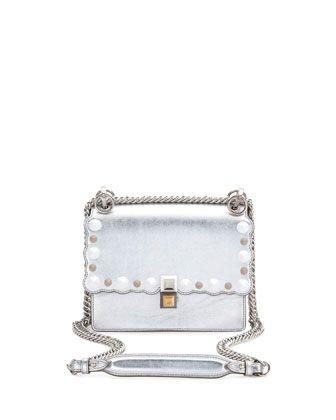 b63492a549 Kan I Mini Scalloped Studded Chain Shoulder Bag