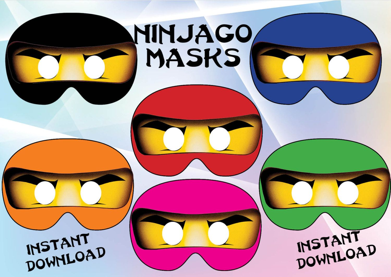 Instant Download Ninjago Masks Birthday