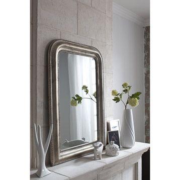 Miroir Chic Argent 50x80 Cm Leroy Merlin Miroir Entree Idees Pour La Maison Miroir Argente