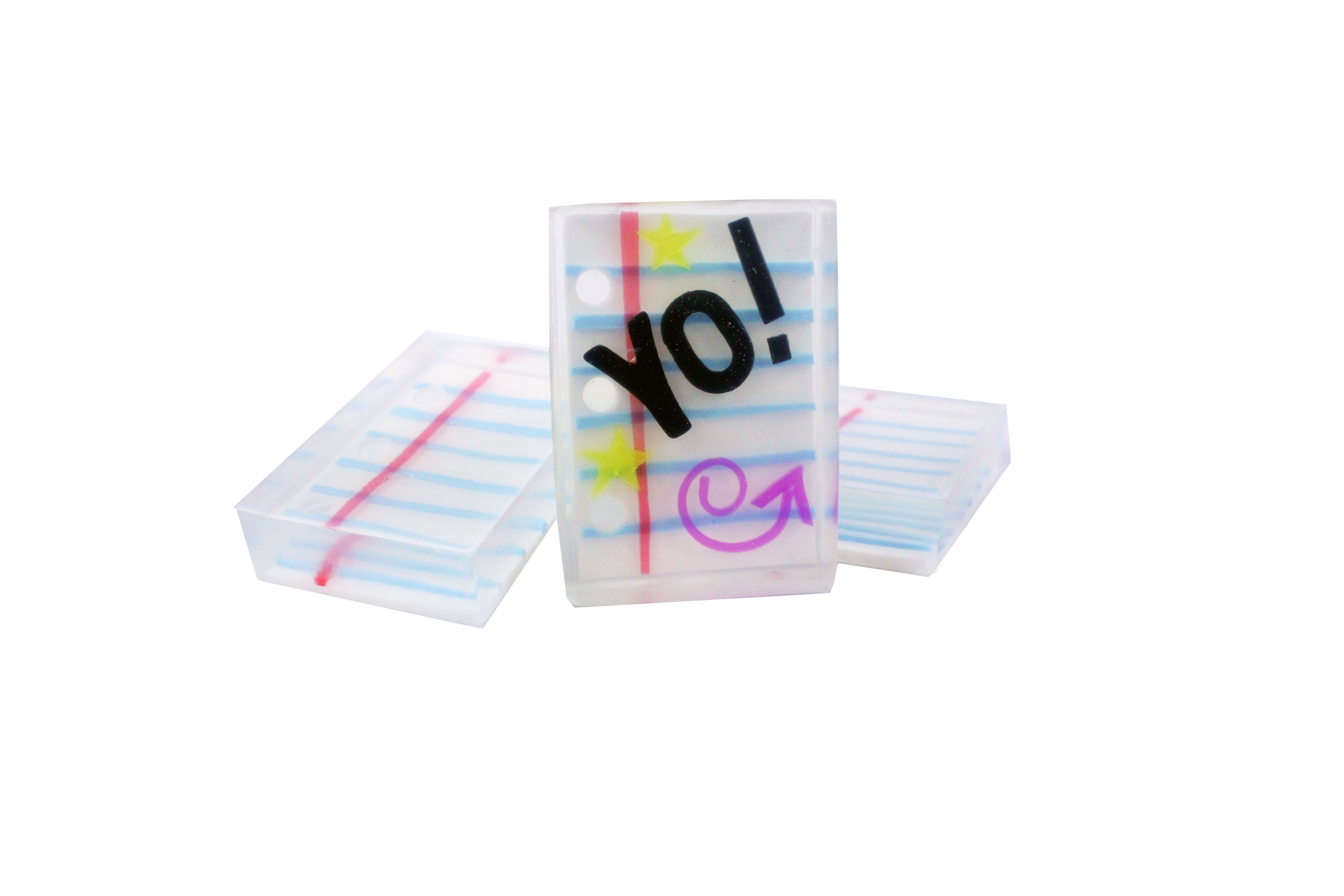 College Ruled or Wide Ruled Notebook Paper Soap Bars at Make