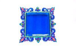 Buy Acrylic Pooja Thali - Blue