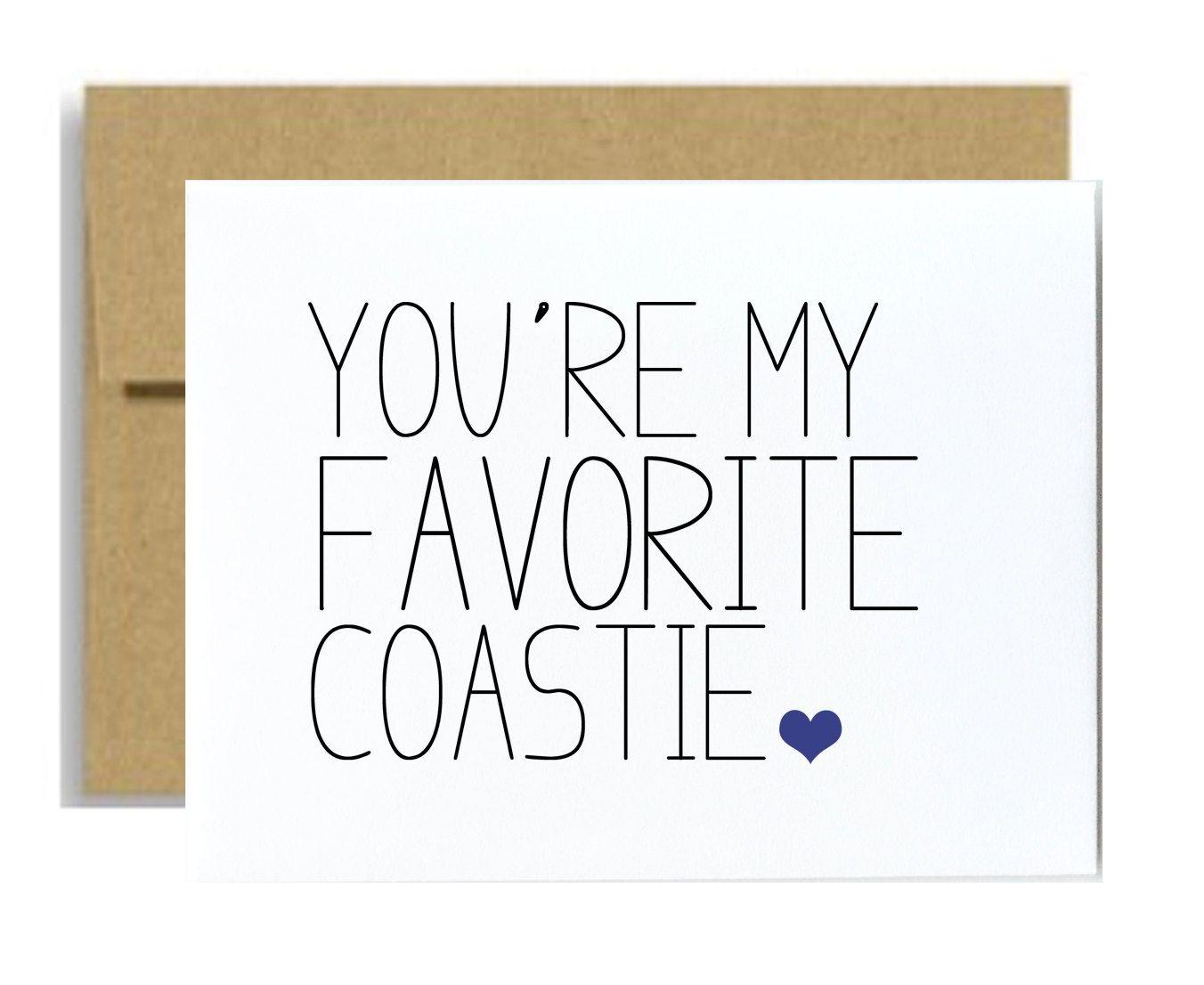 Coast Guard Greeting Card You Are My Favorite Coastie Coastguard