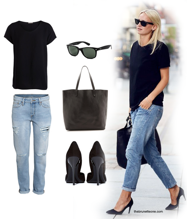 Your Life, Styled: The Basic Tee // The Brunette One