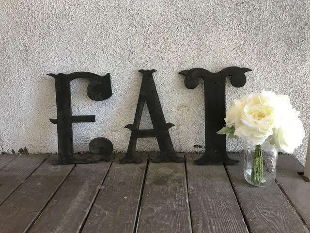 EAT Sign, Kitchen Sign, Rustic Sign, Distressed eat Sign, Reclaimed Wood, EAT letters, custom eat sign, Vintage Eat Sign, Vintage Letter