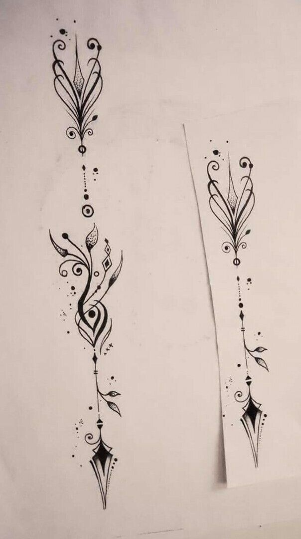 Flèche par : Le Hérisson tatoo  Besançon.  France