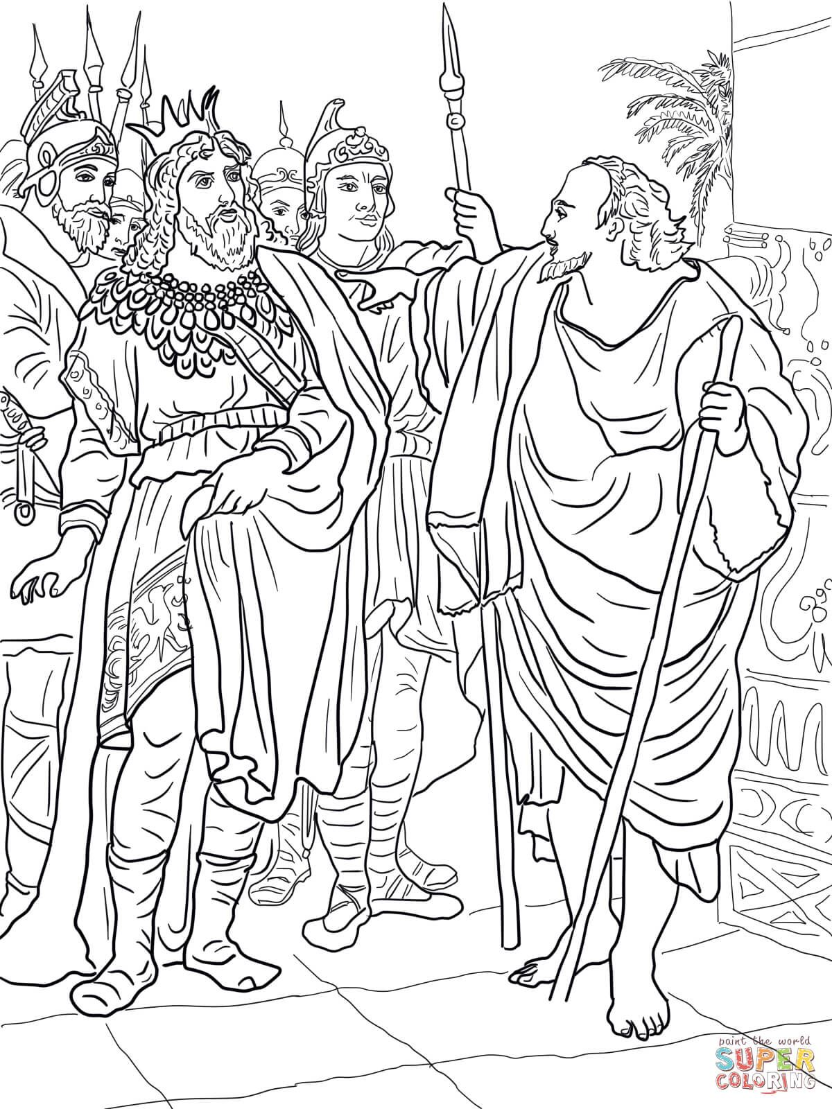 Elijah And King Ahab Super Coloring Bible Coloring Pages
