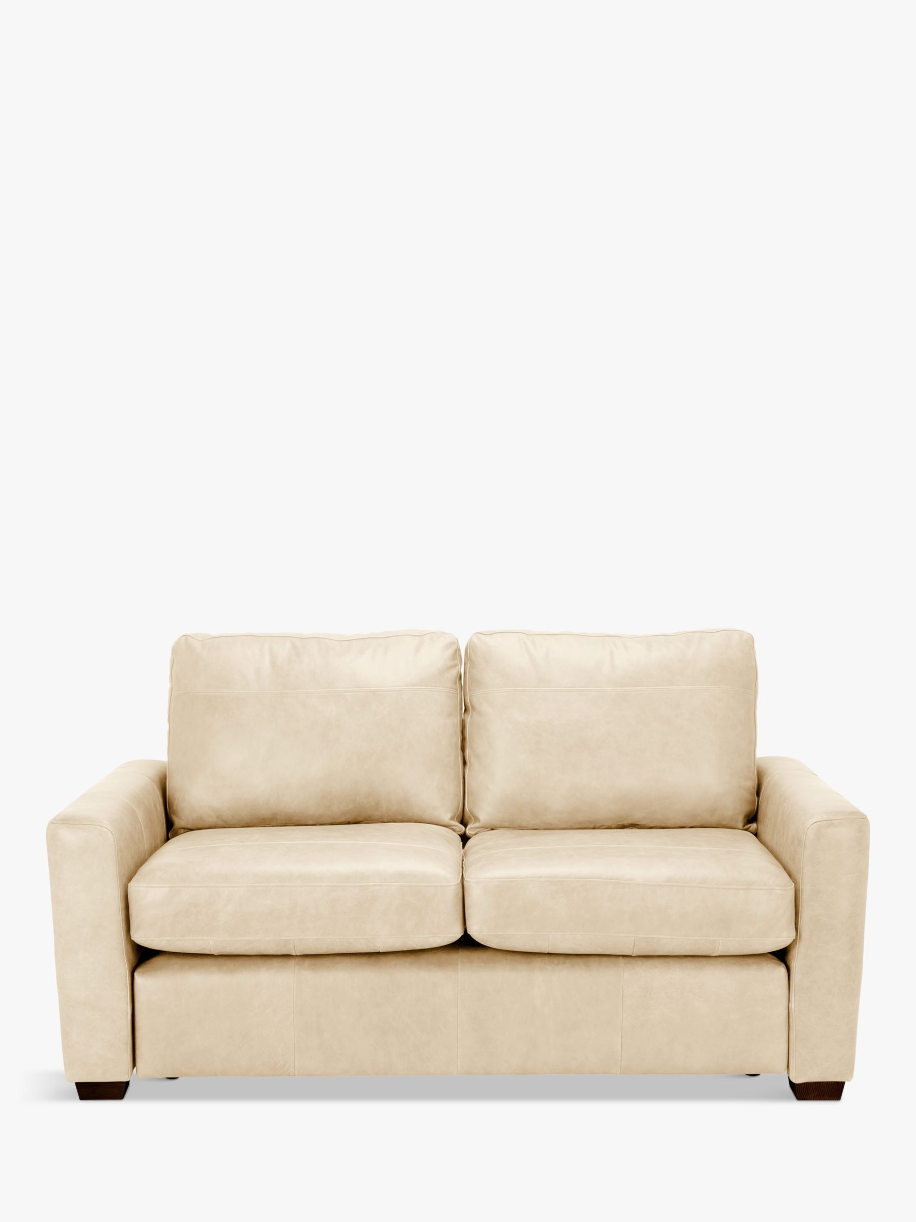 - House By John Lewis Oliver Leather Small 2 Seater Sofa, Dark Leg