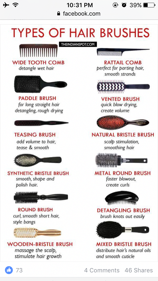 Meilleure brosse à cheveux, Types de brosses à cheveux, Tresses de bricolage, ...