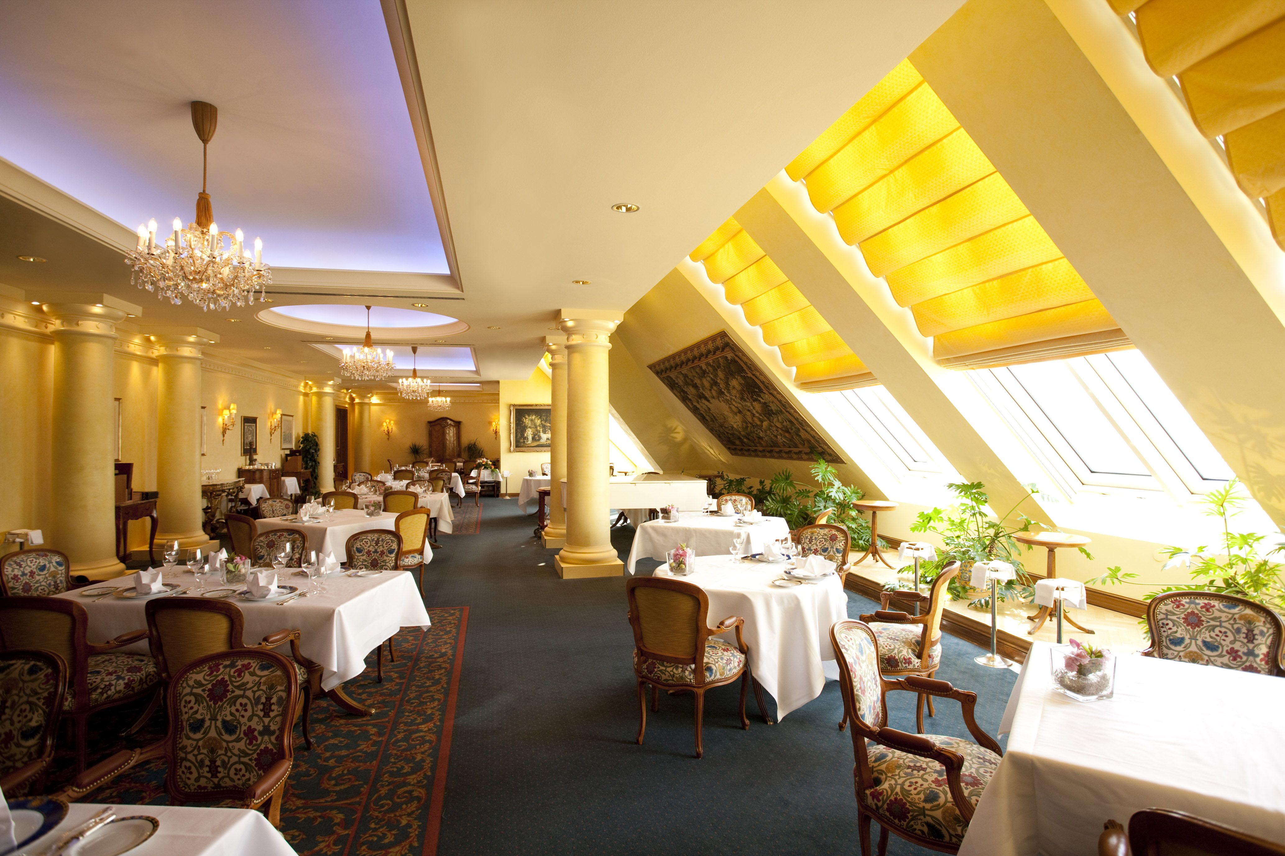 Meeting and event spaces at hilton austria hotels vienna and - Grand Hotel Wien Le Ciel Luxpitality Grandhotelwien Restaurant Dining Leciel