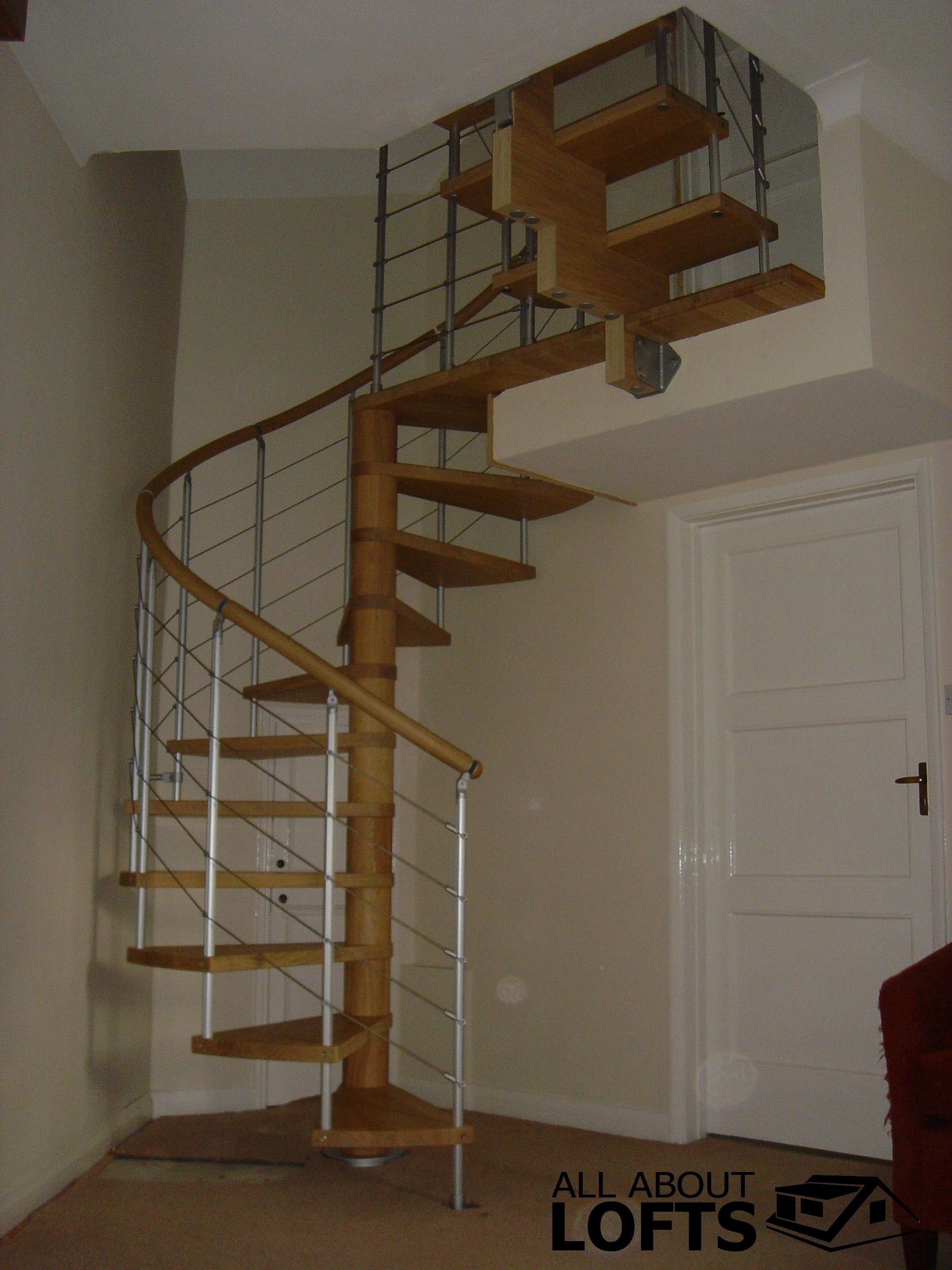 Best Wood And Metal Spiral Staircase For A Loft Conversion 400 x 300