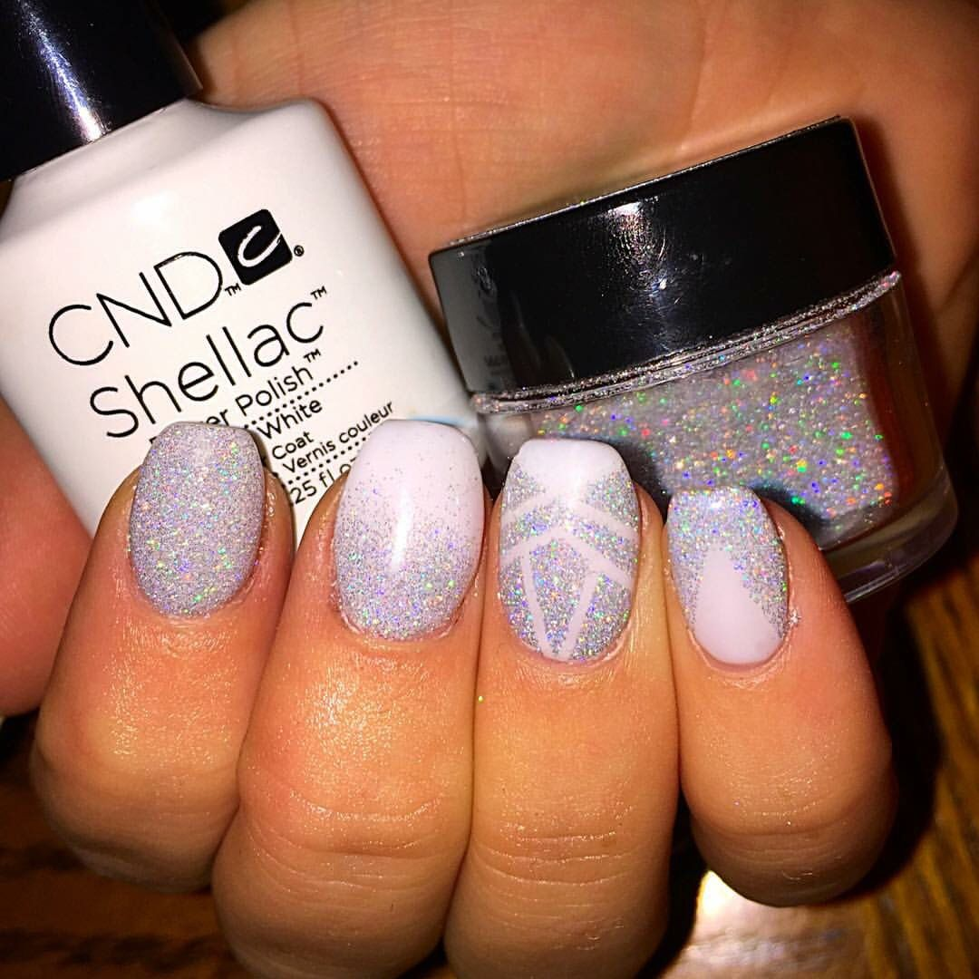 Gel Overlay With Shellac And Cnd Additives Nails Nailart