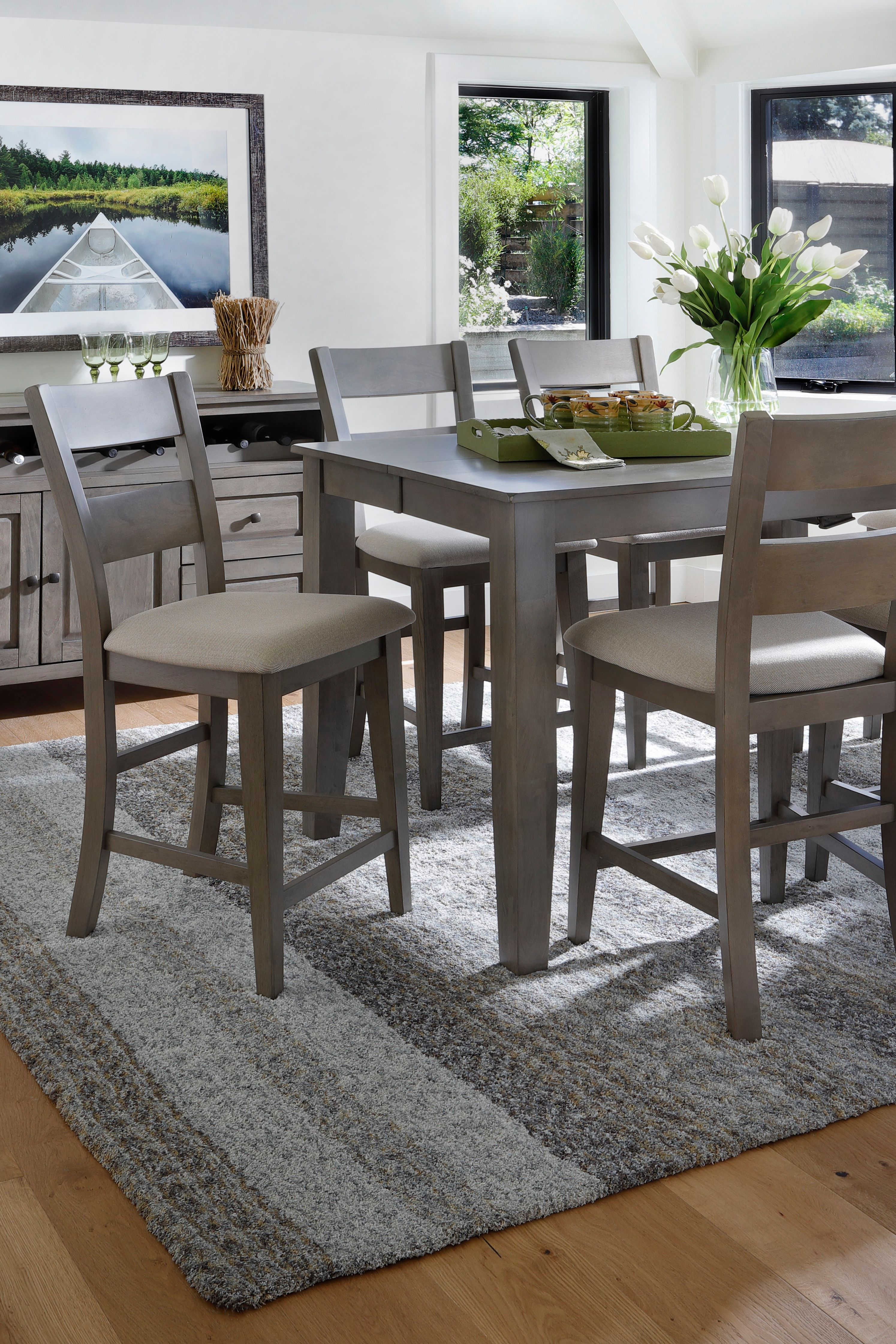 Largo 5 Pc Counter Height Set Counter Height Dining Sets Rowe Furniture Dining