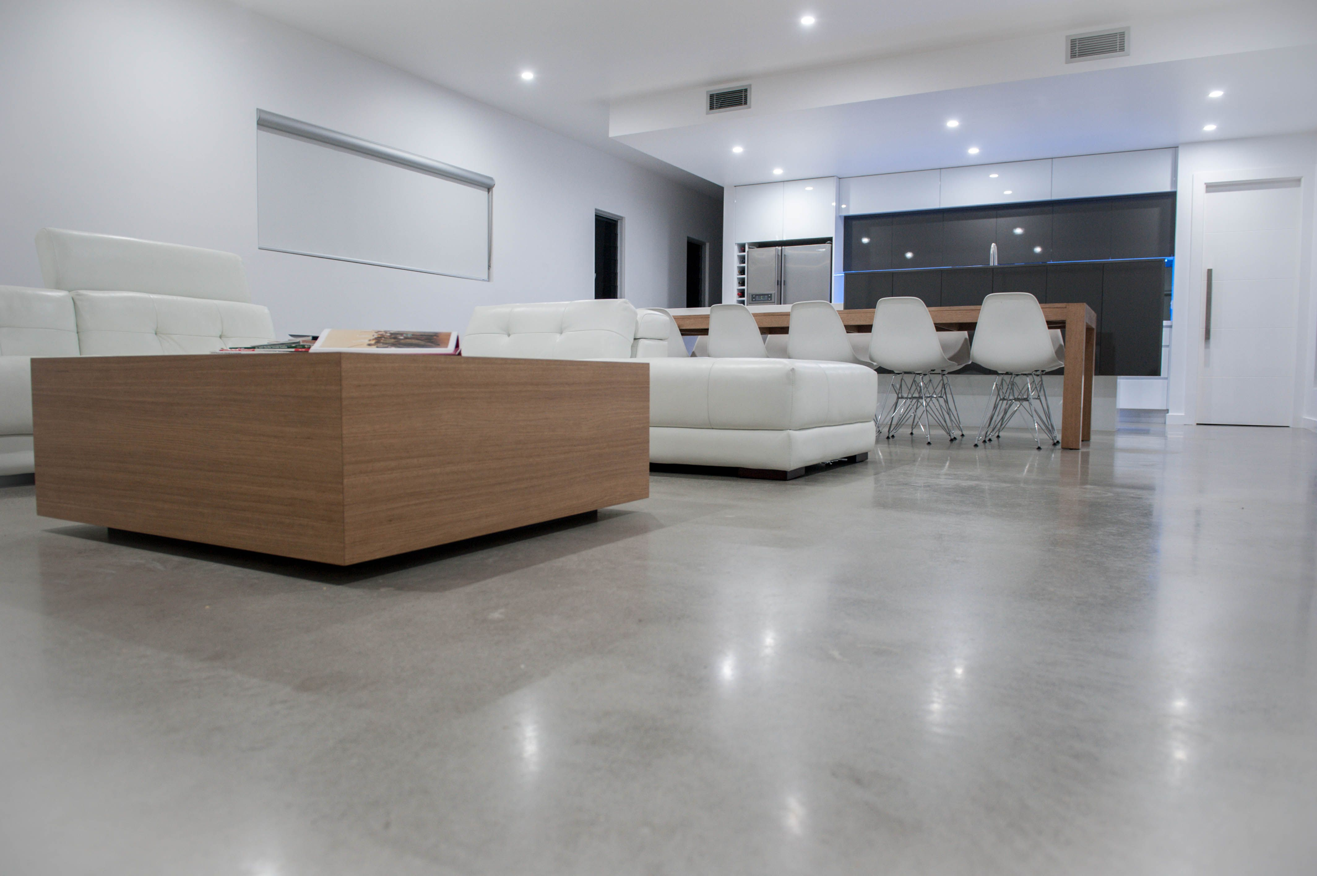 There are three different types of polished concrete