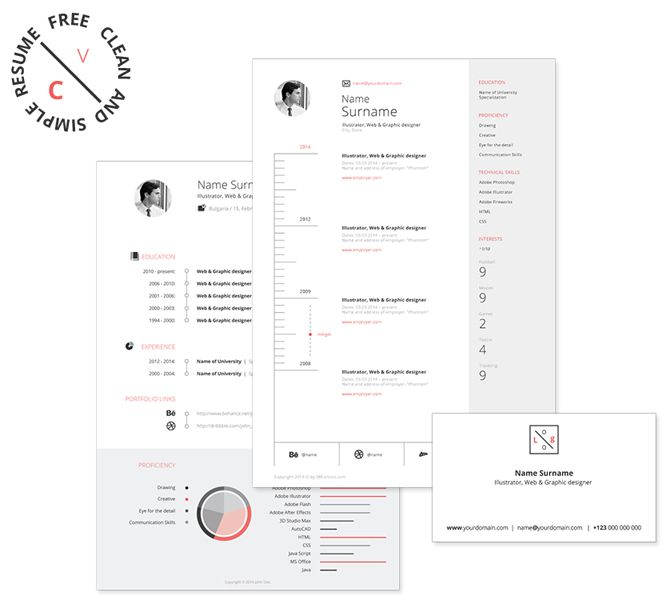 40 Best Free Resume Templates 2017 PSD, AI, DOC Free printable - creative free resume templates