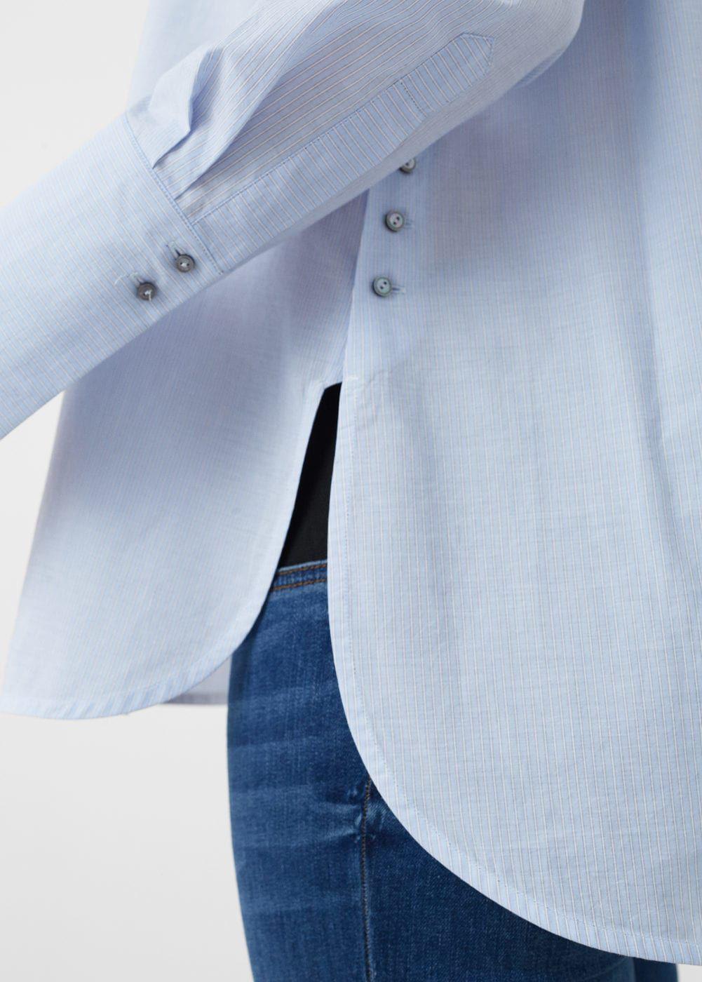 Düğmeli koton bluz – Kadın