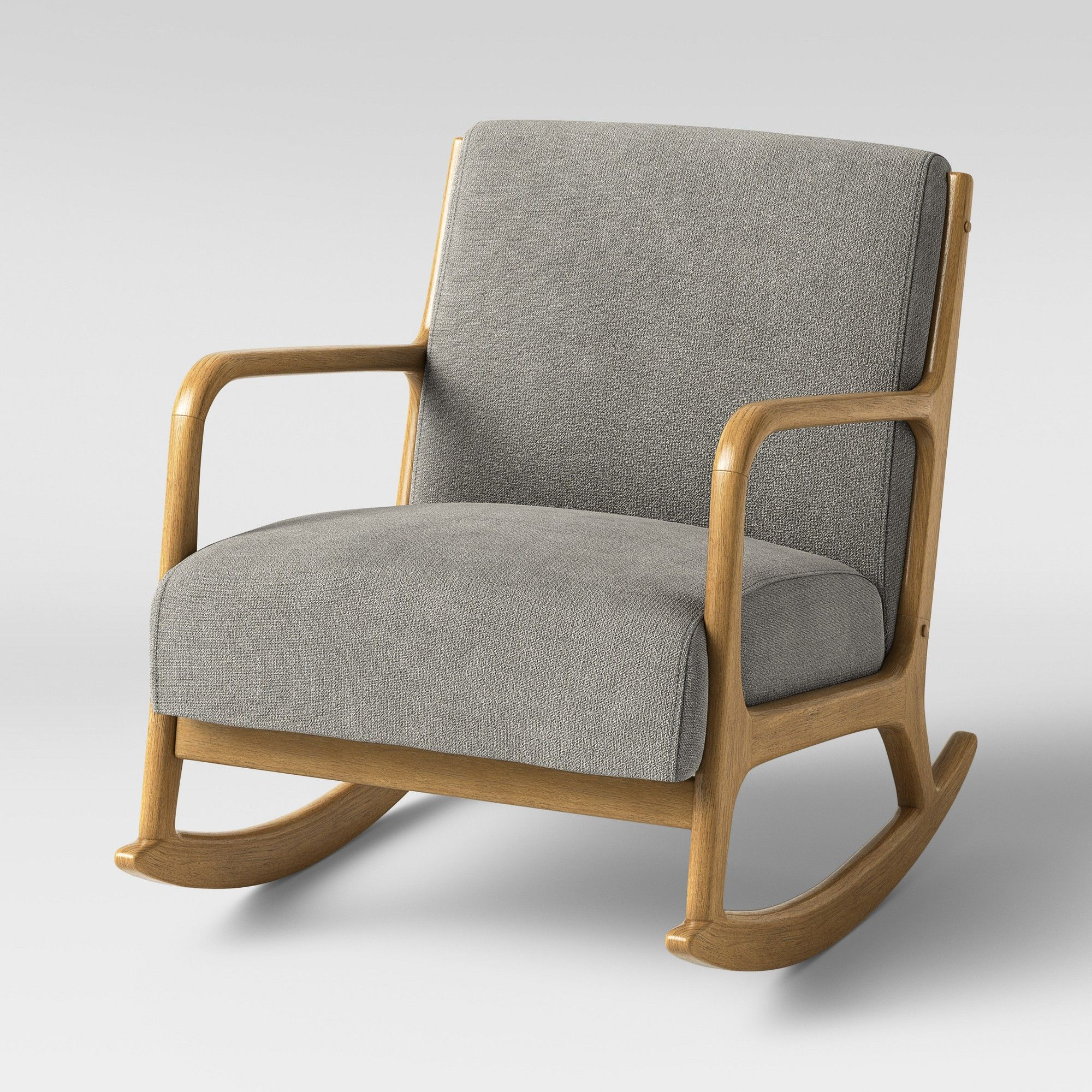 Esters Rocking Accent Chair Light Gray Project 62 Rocking
