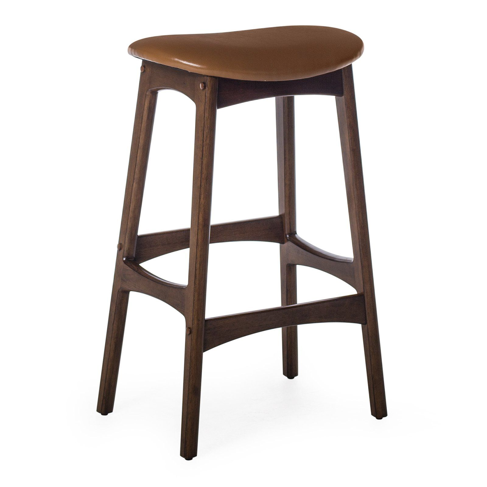 Belham Living Carter Mid Century Modern Backless Bar Stool Counter Stools Backless Backless Bar Stools Mid Century Bar Stools