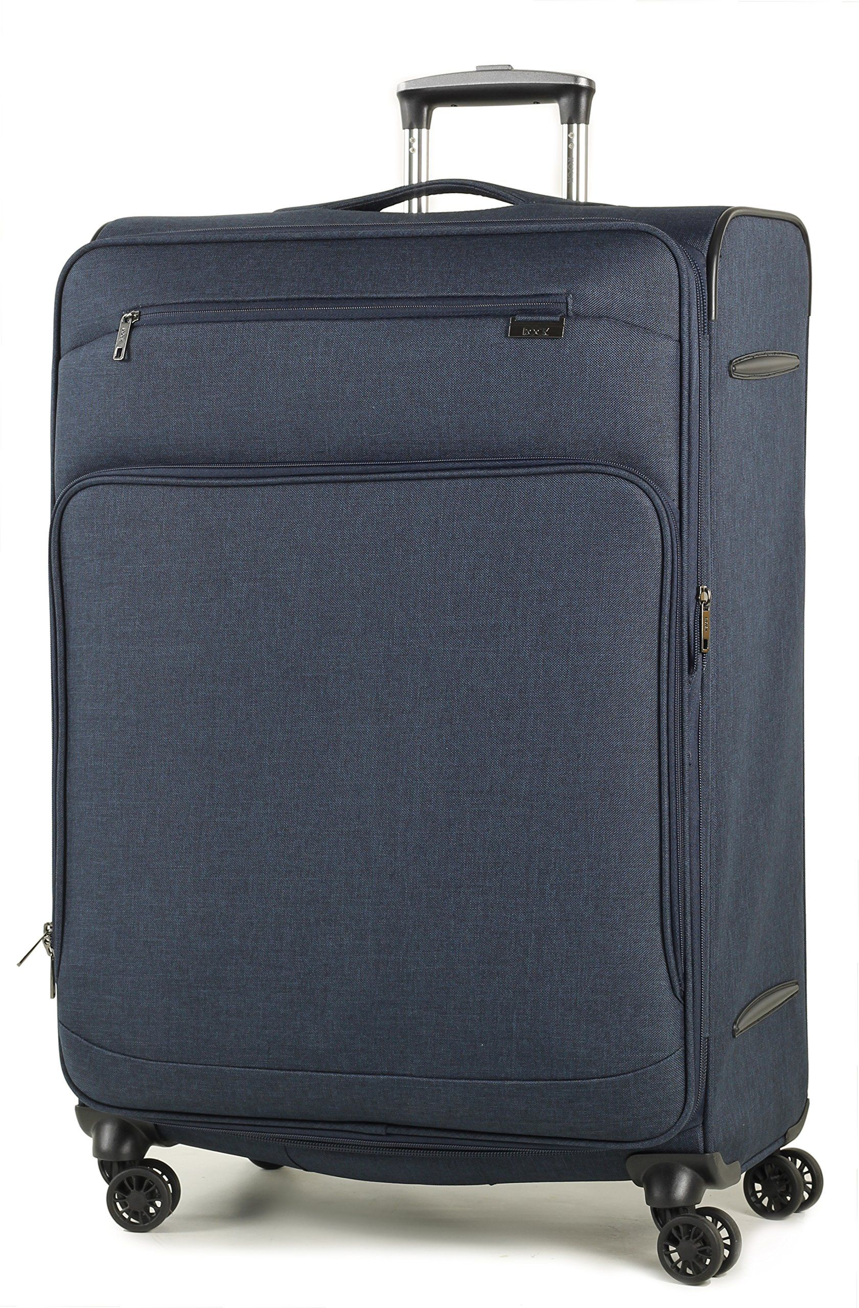 a0b78d99a Rock Madison Lightweight British Airways Cabin Luggage Expandable Four Wheel  Spinner Suitcases Smart denim look fabric