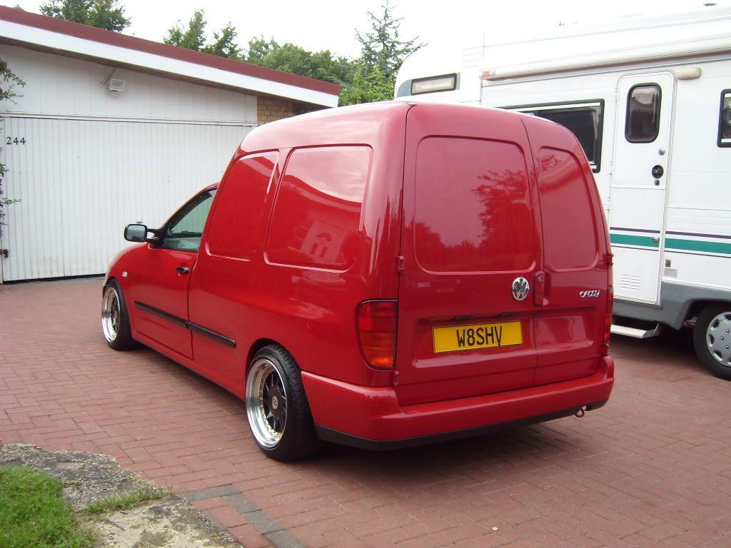 Red vw caddy mk2 on oz turbo wheels 6 pinterest for Garage rose volkswagen fontainebleau samoreau
