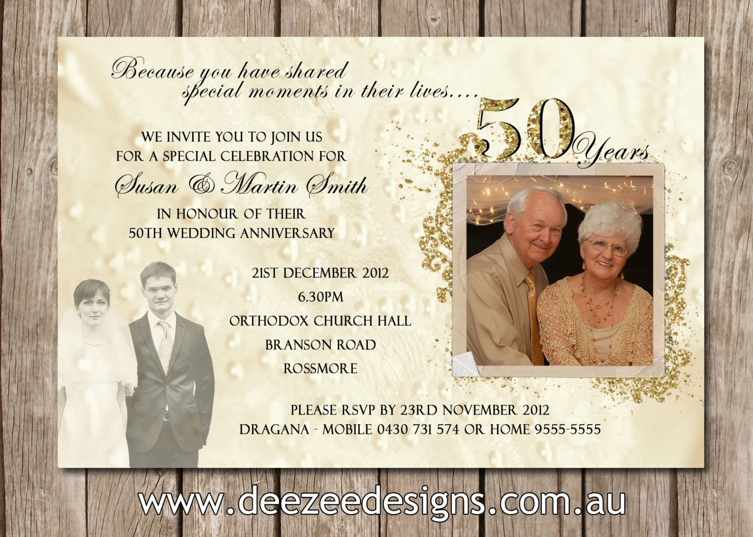 50th Wedding Anniversary Invitation Ideas: Pin By Heather Reiter On Golden Anniversary Party