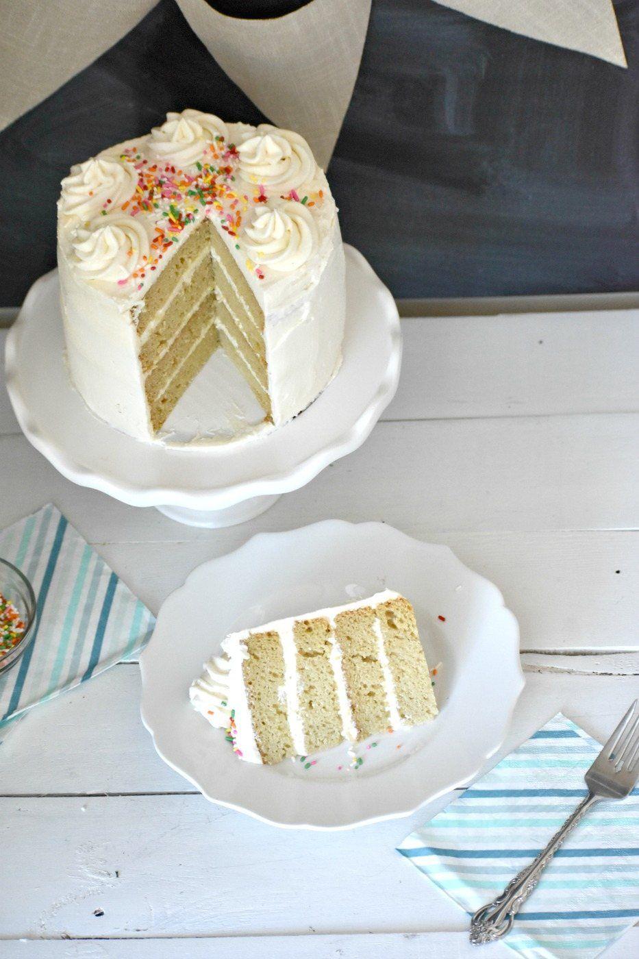 Admirable Gluten Free Dairy Free Vanilla Cake That Is The Perfect Gluten Personalised Birthday Cards Xaembasilily Jamesorg