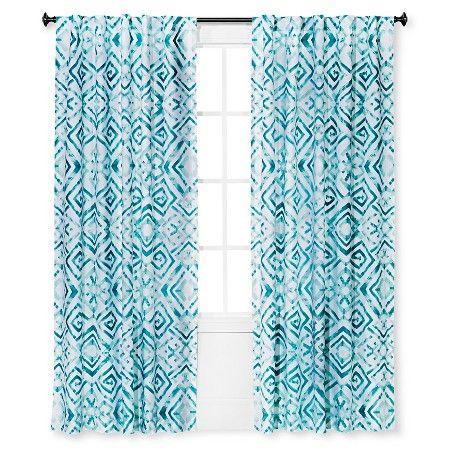 Tulum Curtain Panel Aqua   Sabrina Soto™ : Target