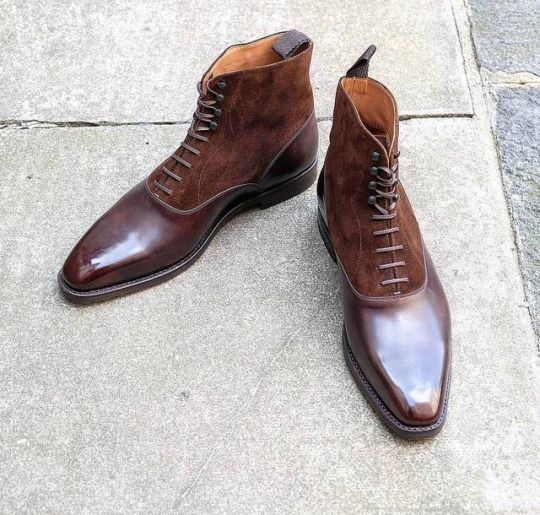 J.FitzPatrick Footwear - Another one our latest MTOs, the Wedgwood Dark Brown Museum/Dark Brown Suede on the LPB last….