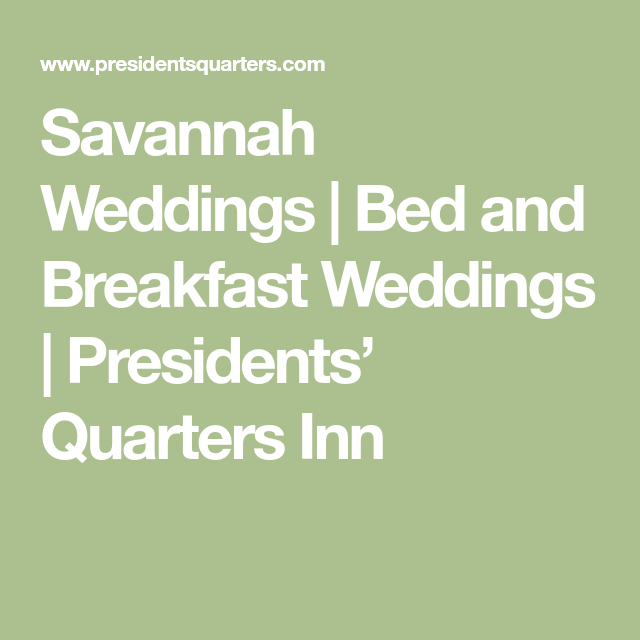 Bed And Breakfast Weddings