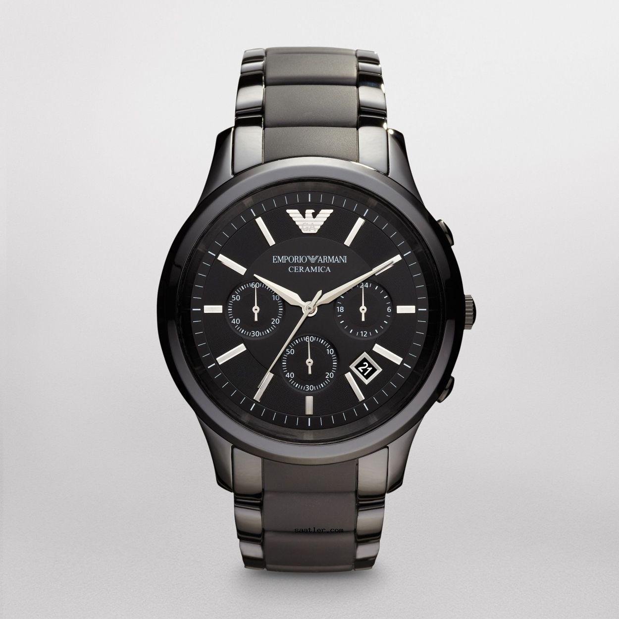 Emporio Armani Ceramica Ar1452 Siyah Erkek Kol Saati Emporio Armani Mens Watches Armani Watches For Men Mens Fashion Watches