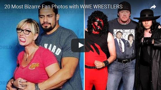 20 Most Bizarre Fan Photos with WWE WRESTLERS