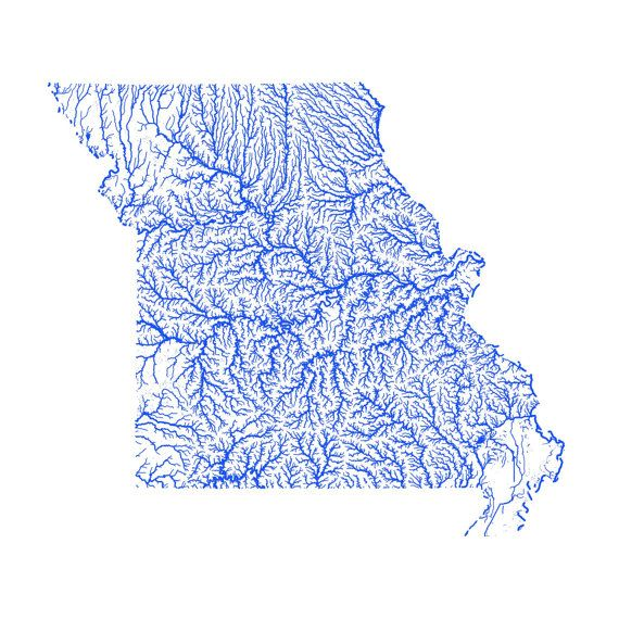 Missouri Map With Rivers.Missouri Map High Res Digital Map Of Missouri Rivers Artful Data