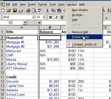 Make a Personal Budget on Excel in 4 Easy Steps Deficit The - How To Make A Household Budget Spreadsheet