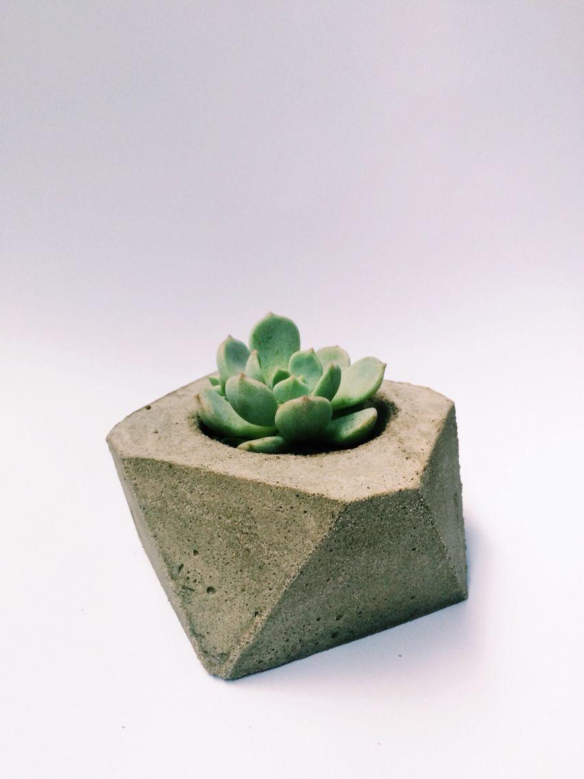 Geometric Cement Pot Diy Madebyyourstruly Cement Pots Planter Pots Pot