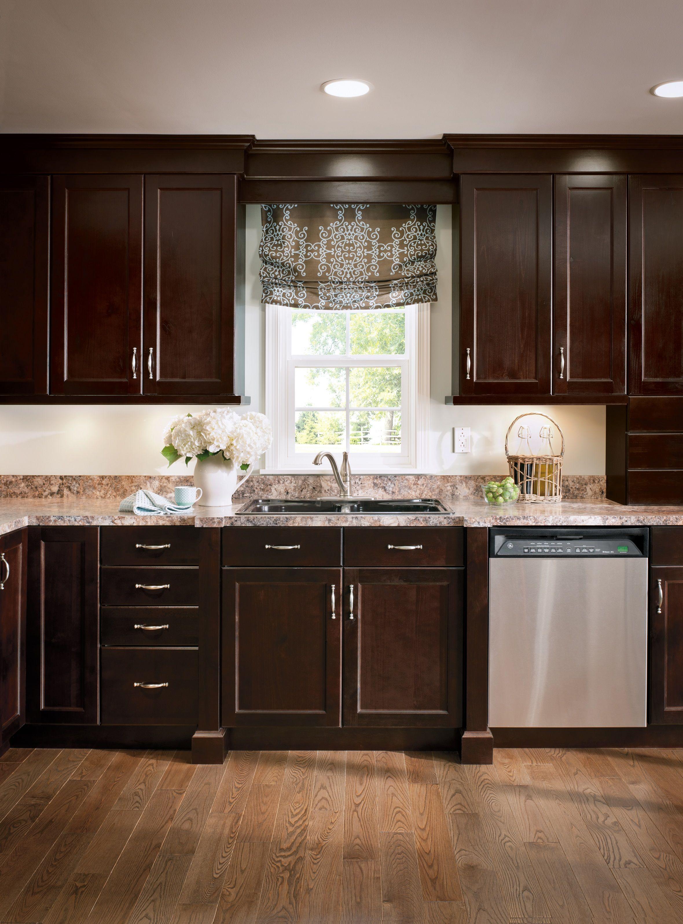 Traditional Espresso Cabinets Casual Kitchen Alder Cabinets Amish Kitchen Cabinets