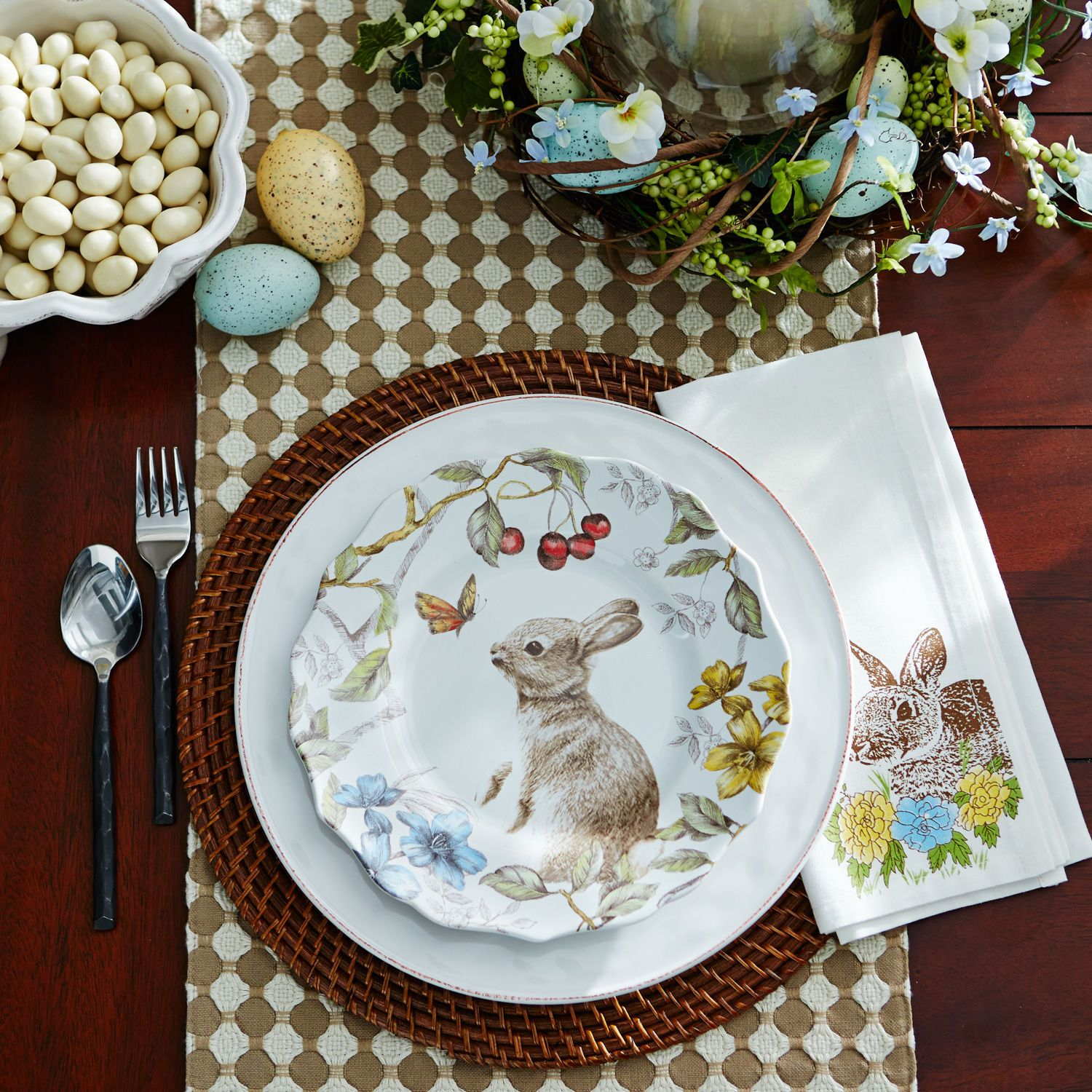 Pier 1 Imports Plate Easter Bunny