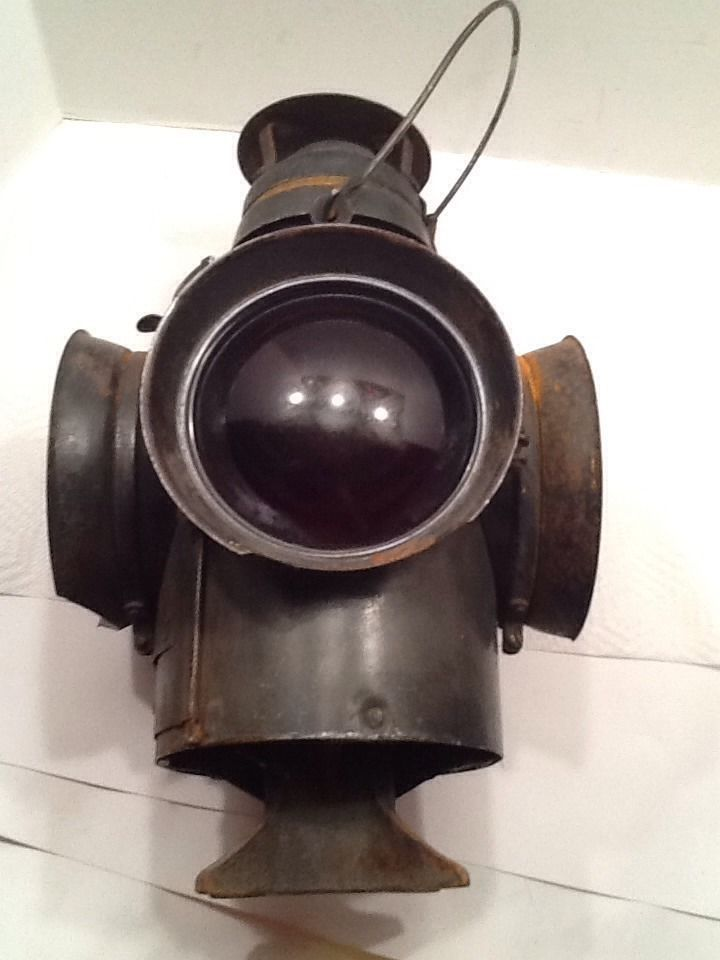 Rare Footed Handlan St Louis Usa Railroad Lantern Antique
