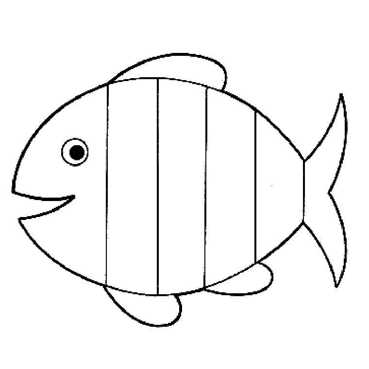 Coloriage poisson colorier dessin imprimer for Modele bac a poisson