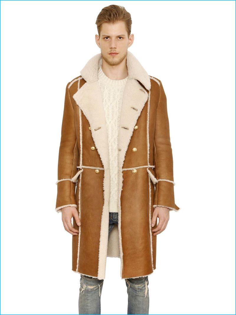 Men's Fall/Winter 2016 Fashion Trend: Shearling | Shearling coat ...