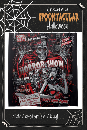 Horror Movie Monsters Spook Show Shower Curtain Zazzle Com