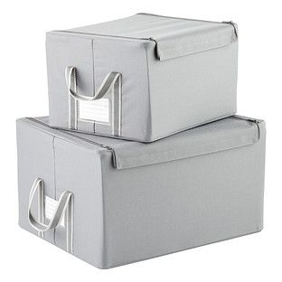 Gentil Enjoy Free Shipping On All Purchases Over $75 And Free In Store Pickup On  The Reisenthel Grey Fabric Storage Boxes With Handles At The Container  Store.