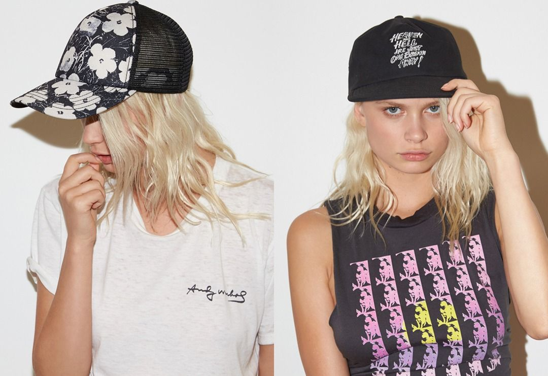 3a3109da2f423f Go beyond the flower crown and get your head into an iconic print from Andy  Warhol    The 'Warhol Surf Trucker Hat'